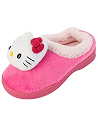 Hello Kitty Girl's Winter Warm Slipper Clog Mule Shoes (Toddler/Youth)