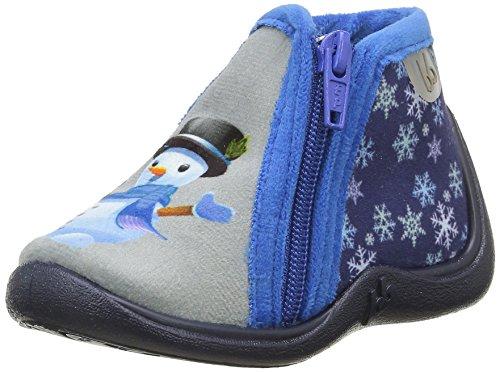 BabybotteMajik - Pantofole Bambino , Grigio (Gris (712 Gris/Marine/Bonhomme de N)), 27