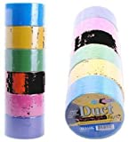 Bazic Fluorescent Colored Duct Tape, Assorted Colors, Pack of 6