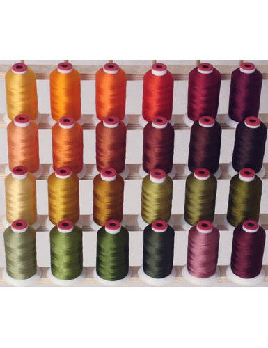 24-cone Polyester Embroidery Thread Kit - 24 Fall colors - 1100 yards - 40wt
