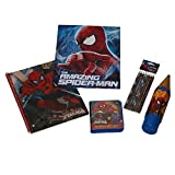 Marvel Ultimate Spiderman School Supply Set- Includes Notebook, Folder, Pencil Case, Colored Pencils, Crayons and Paints