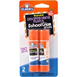 Elmers Disappearing Purple School Glue Sticks, 0.21 oz, Pack of 2 (E522)