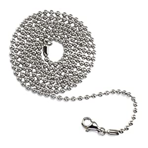 Tioneer Stainless Steel 2.4mm Bead/Ball Chain - Length: 24""