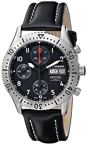 Revue-Thommen-Mens-16007-6537-Airspeed-Classic-Automatic-Black-Dial-Watch
