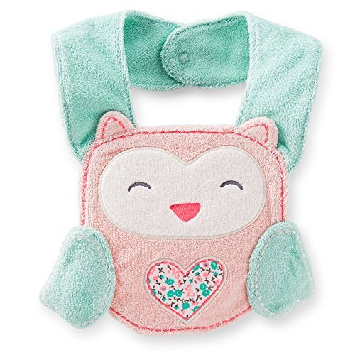 Carter's Animal Face Terry Teething Bib (Owl) - 1