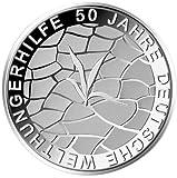 """10 Euro Gedenkmünze """"50 Jahre Deutsche Welthungerhilfe"""" (Jäger: 570) Spiegelglanz"""