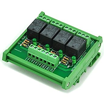 Electronics Salon Din Rail Mount 4 Spdt Power Relay