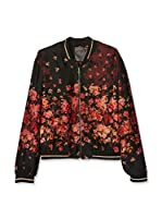 Guess Chaqueta Flower Shaded Bomber (Negro / Magenta)