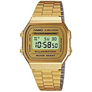 DESPATCHED FROM UK - Casio classic gold retro watch A-168WG-9