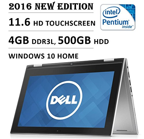 2016 Newest Dell Inspiron 3000 11.6 Inch 2-in-1 Touchscreen Premium High Performance Laptop, Intel Quad Core Pentium Processor, 4 GB...