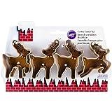 Wilton Industries 2308-5075 4-Piece Christmas Reindeer Metal Cookie Cutter Set, Small