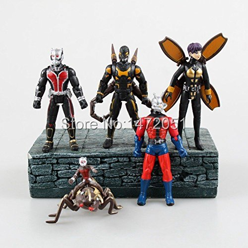 5pcs/set Marvel Ant-Man Movie Toys 12CM PVC Ant Man Action Figure Collectible Toys Set (Custom Marvel Legends compare prices)