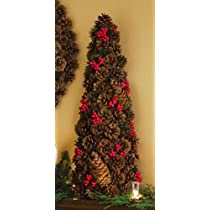 Rustic Woodland Holiday Christmas Floral Pinecone Tree By Collections Etc