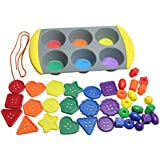 Color Sorting Buttons Set - Sorting Tray And Large Bright Buttons To Sort - Preschool And Toddler Sorting Activity