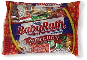 Amazon.com : Baby Ruth Miniature Bars, Christmas, 11-Ounce ...