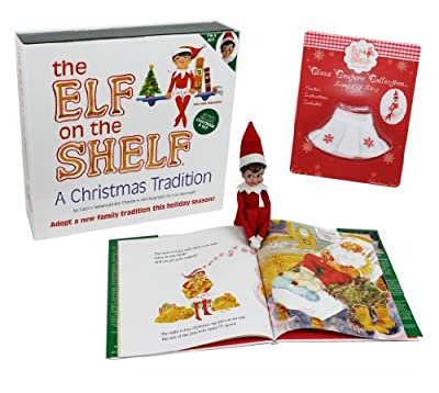 The Elf on the Shelf - Girl Elf Edition with North Pole Blue Eyed Girl Elf and Girl-character themed Storybook with Snowflake Skirt from The Elf on the Shelf