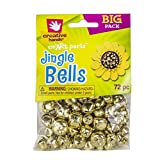 Creative Hands by Fibre-Craft 72-Pack Jingle Bells, 6mm-16mm, Gold