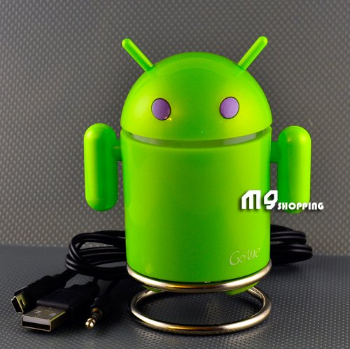 Android Robot Rechargeable FM/MP3 Player