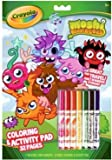 Crayola Moshi Monsters Colouring & Activity Pad Book 32 Pages With 7 Washable Markers