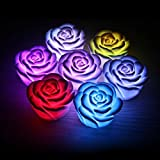 Romantic Colorful Gradient Rose Lantern LED Night Light Candle Lamp