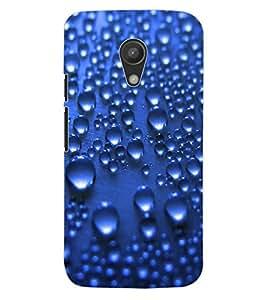 ColourCraft Water Drops Pattern Design Back Case Cover for MOTOROLA MOTO G2