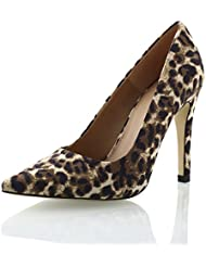 Sibba Women S Sexy Dress Leopard Stiletto Pointed Toe High Heel Pumps Shoe ...