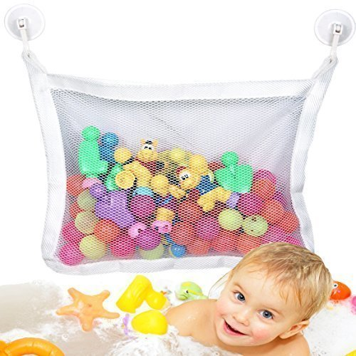 Baby Bath Toy Organizer - Bathtub Toys Storage with 2 Extra Strong Suction Cups
