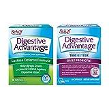Daily Probiotic Capsule - Digestive Advantage 80 Capsules and Lactose DefenseLactase Capsule (96 Capsules)