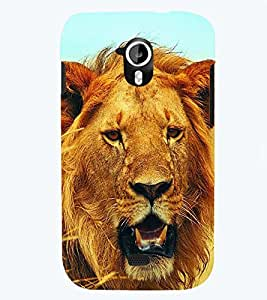 printtech Lion Back Case Cover for Micromax Canvas HD A116::Micromax Canvas HD Plus A116Q