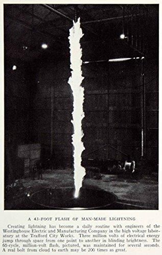 1935 Print Lightning Westinghouse Electric Manufacture Trafford City Works Ngma5 - Original Halftone Print