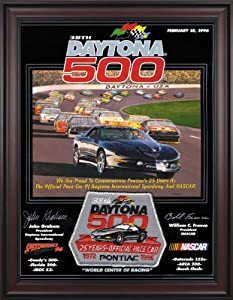 NASCAR Framed 36 x 48 Daytona 500 Program Print Race Year: 38th Annual - 1996 by Mounted Memories