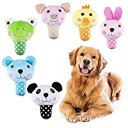 Mimibox Squeaky Plush Dog Toy for Smalls Dogs - Pack of 3