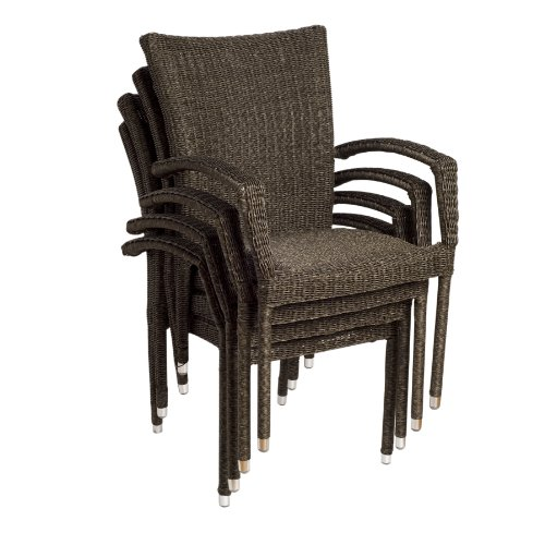 Atlantic Bari Stackable Armchairs, 4-Pack picture