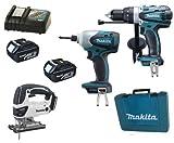 Makita 18V LXT Li Ion LXT202 Kit BHP458, BTD140 & BJV180 BJV180Z BJV180Rfe Jigsaw