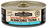 Crown Prince Natural Solid White Albacore Tuna in Spring Water, No Salt Added, 5 Ounce Cans (Pack of 12)