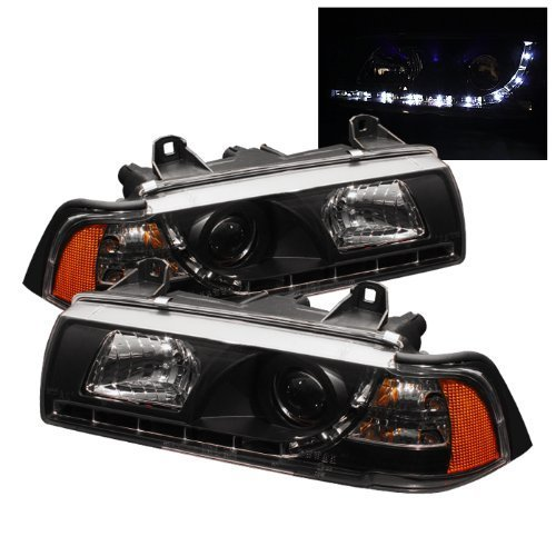 -Black Passenger side WITH install kit 2011 Gmc YUKON XL WO AIR CURTAIN Door mount spotlight LED 6 inch