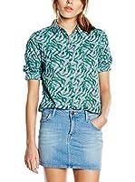Lee Camisa Mujer One Pocket Delft (Verde / Azul)