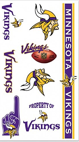Minnesota Vikings Temporary Tattoos - 1