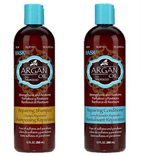 Amazon.com : Hask Argan Oil shampoo & conditioner set 12oz : Hair Shampoos