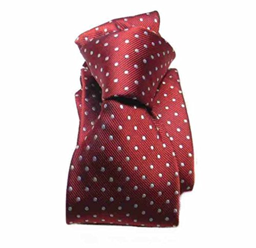 Avantgarde - Cravatta uomo a pois rosso bordeaux pallini bianchi colore bordeaux, var 9