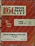 1954 Canadian Dodge Truck and Fargo Parts Book Original