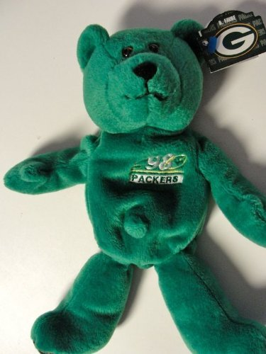 1998 Green Bay Packers #4 Brett Favre - NFL MVP Plush Bear - Limited Treasures - 1