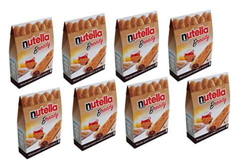 "Ferrero: ""Nutella B-ready "" a crisp wafer of bread in the form of mini - baguette stuffed with a creamy Nutella * 8 pieces * 5.39 oz (153g) * Pack of 8 [ Italian Import ]"