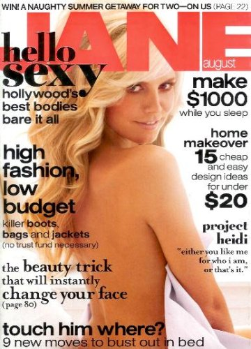 Jane Magazine - August 2006 - Heidi Klum Cover, Layout and Interview!