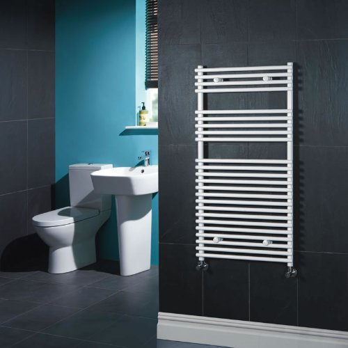 Kudox Flat White Bar on Bar Towel Rail 600mm x 1150mm