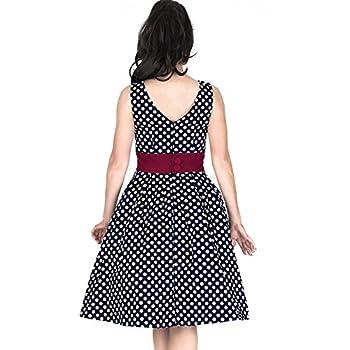 Miusol Women's Vintage Cut Out Polka Dot 1950'S Bridesmaid Swing Dress
