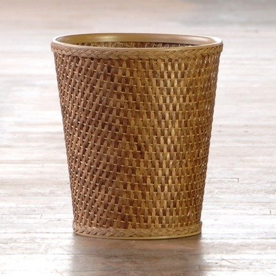 Lamont Home Carter Round Wastebasket, Cappuccino front-434148