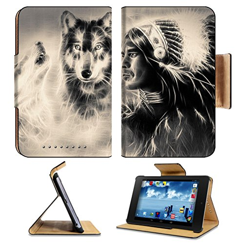asus-google-nexus-7-1st-generation-tablet-flip-case-a-beautiful-airbrush-painting-of-an-young-indian