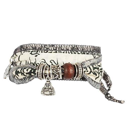 White-Little-Buddha-Wunsch-Glcks-Armband-aus-tibetischen-Gebetsfahnen-Hochwertiger-Baumwoll-Stoff-ist-mit-buddhistischen-Mantras-bedruckt-Eine-originelle-Geschenk-Idee-fr-coole-Mnner