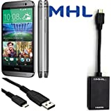 eBull MHL to HDMI TV-out for New HTC One M8 HDTV Adapter